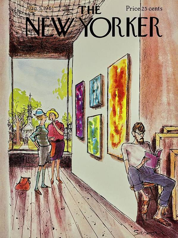 Illustration Poster featuring the painting New Yorker August 5th 1961 by Charles D Saxon
