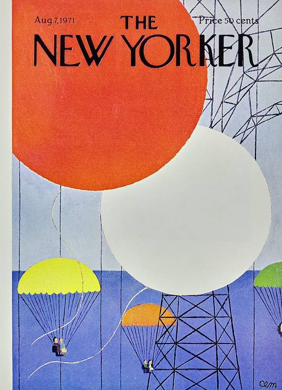 Illustration Poster featuring the painting New Yorker August 7th 1971 by Charles Martin
