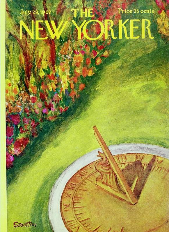 Illustration Poster featuring the painting New Yorker July 29th 1967 by Beatrice Szanton