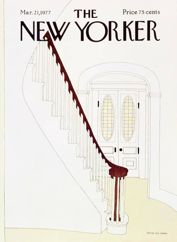 Illustration Poster featuring the painting New Yorker March 21st 1977 by Gretchen Dow Simpson