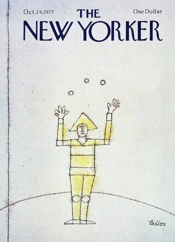 Illustration Poster featuring the painting New Yorker October 24th 1977 by Robert Tallon