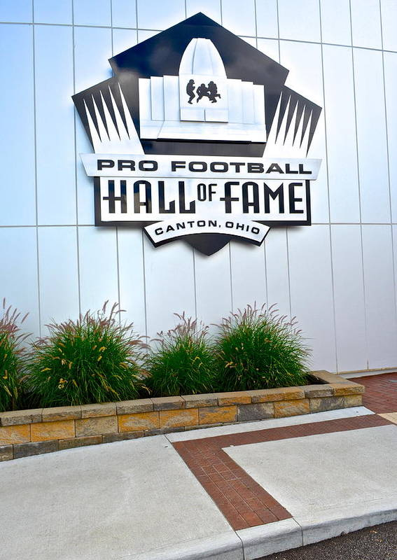 Nfl Poster featuring the photograph Nfl Hall Of Fame by Frozen in Time Fine Art Photography
