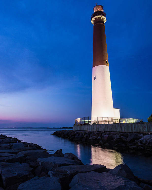 New Jersey Poster featuring the photograph Night Light by Kristopher Schoenleber