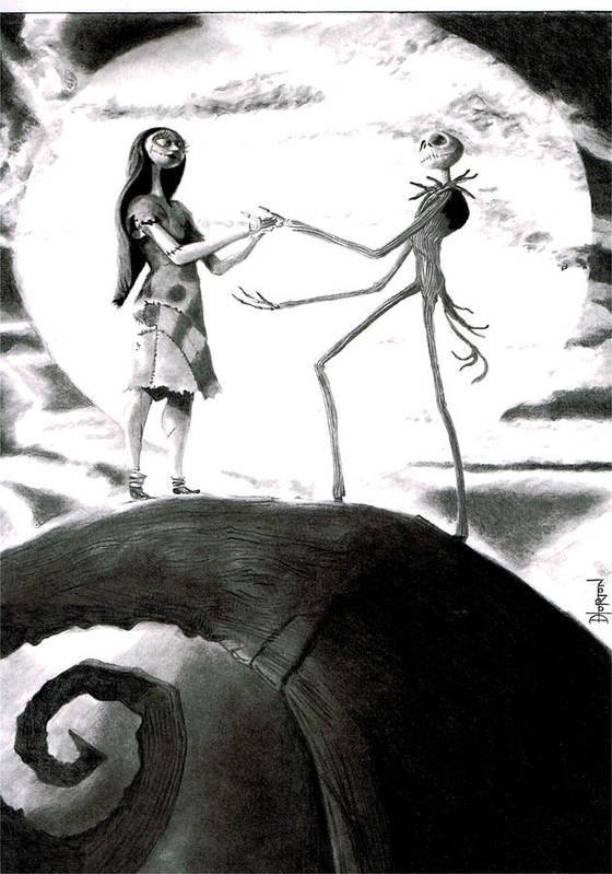 Nightmare Before Christmas Illustration.Nightmare Before Christmas Poster