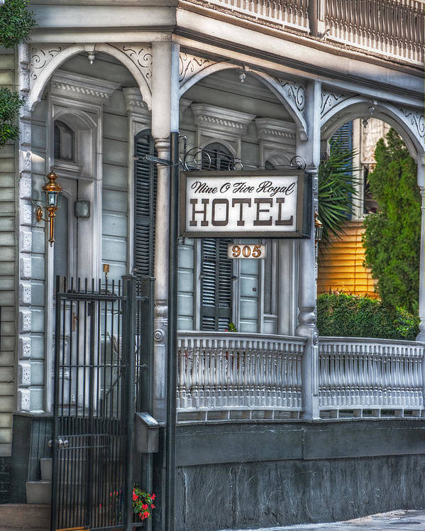 New Orleans Poster featuring the photograph Nine O Five Royal by Brenda Bryant