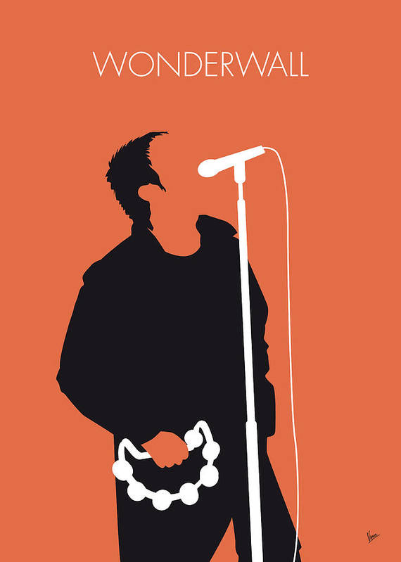 Oasis Poster featuring the digital art No023 MY Oasis Minimal Music poster by Chungkong Art