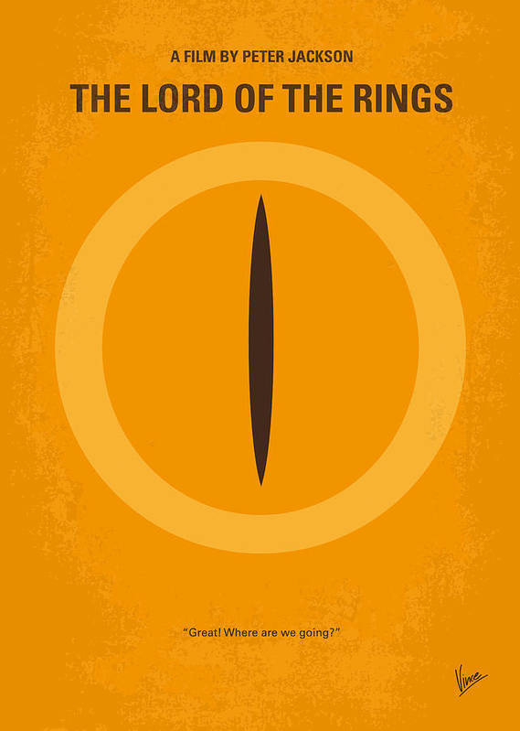 Lord Poster featuring the digital art No039 My Lord Of The Rings Minimal Movie Poster by Chungkong Art