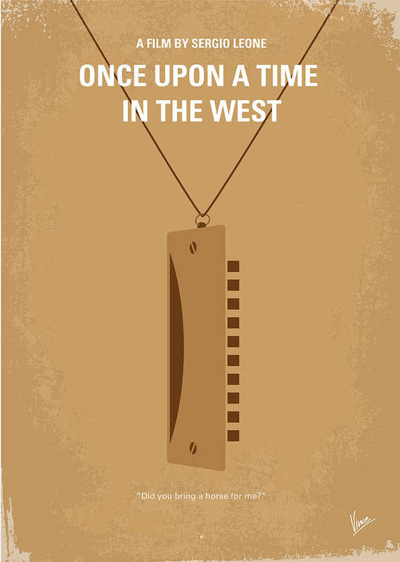 Once Poster featuring the digital art No059 My Once Upon A Time In The West Minimal Movie Poster by Chungkong Art