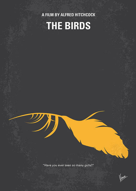 Birds Poster featuring the digital art No110 My Birds Movie Poster by Chungkong Art