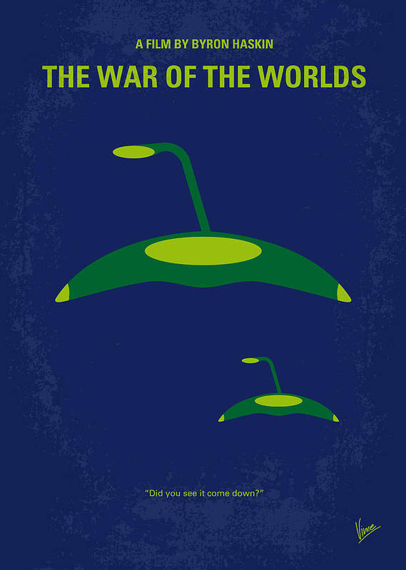 War Poster featuring the digital art No118 My War Of The Worlds Minimal Movie Poster by Chungkong Art