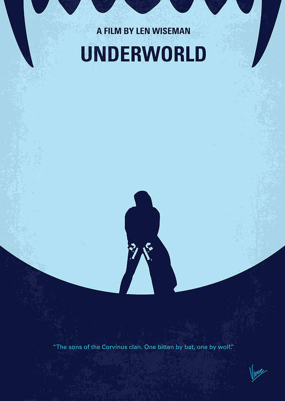 Underworld Poster featuring the digital art No122 My Underworld Minimal Movie by Chungkong Art