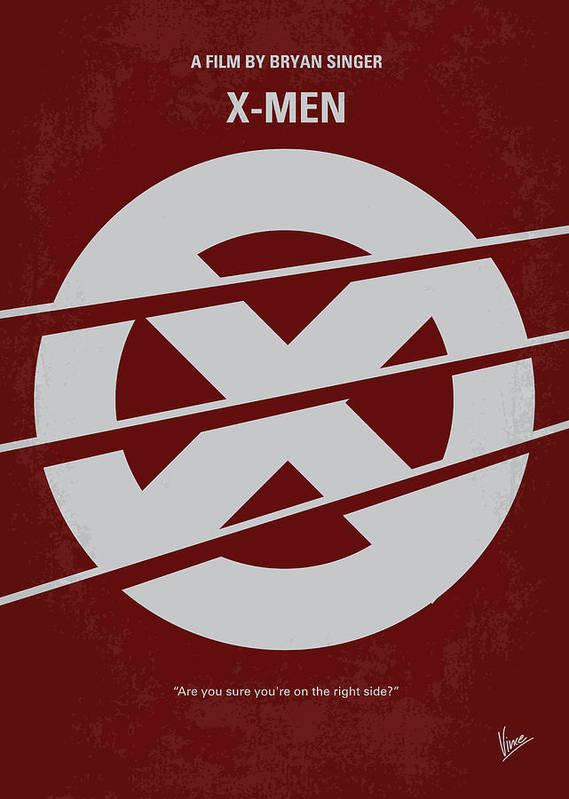 Xmen Poster featuring the digital art No123 My Xmen Minimal Movie Poster by Chungkong Art