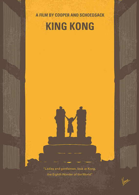 King Poster featuring the digital art No133 My King Kong Minimal Movie Poster by Chungkong Art