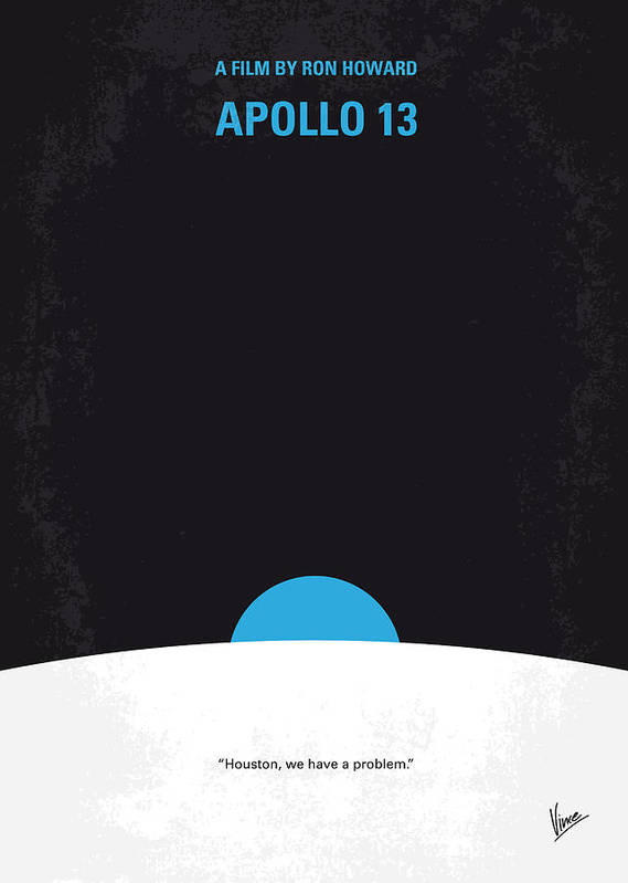 Apollo Poster featuring the digital art No151 My Apollo 13 Minimal Movie Poster by Chungkong Art