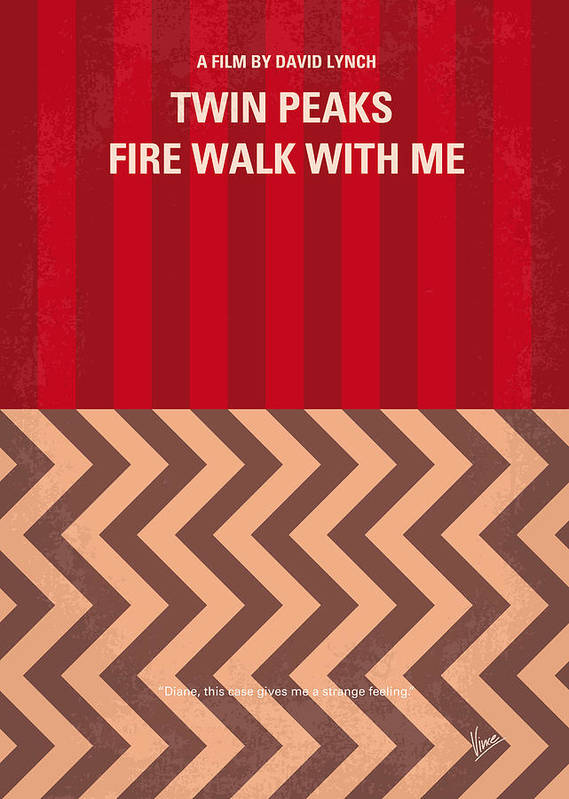 Fire Poster featuring the digital art No169 My Fire Walk With Me Minimal Movie Poster by Chungkong Art
