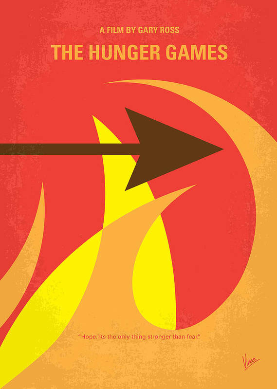 Hunger Poster featuring the digital art No175 My Hunger Games Minimal Movie Poster by Chungkong Art