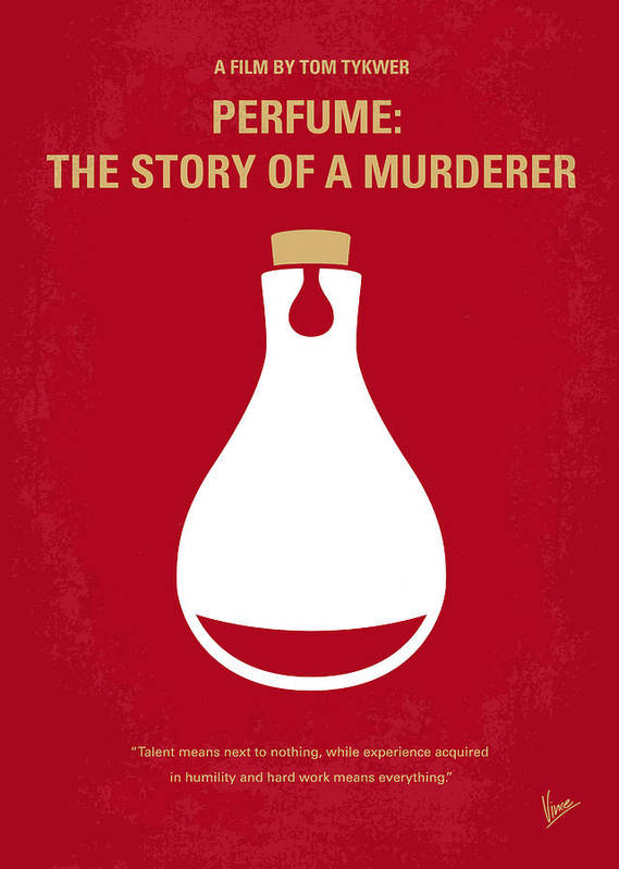 Perfume Poster featuring the digital art No194 My Perfume The Story Of A Murderer Minimal Movie Poster by Chungkong Art