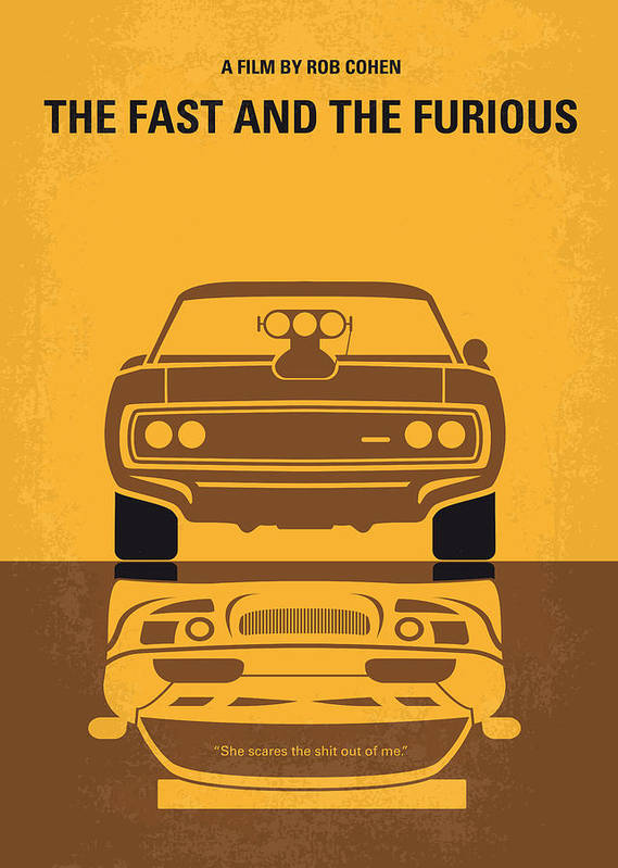Fast Poster featuring the digital art No207 My The Fast And The Furious Minimal Movie Poster by Chungkong Art