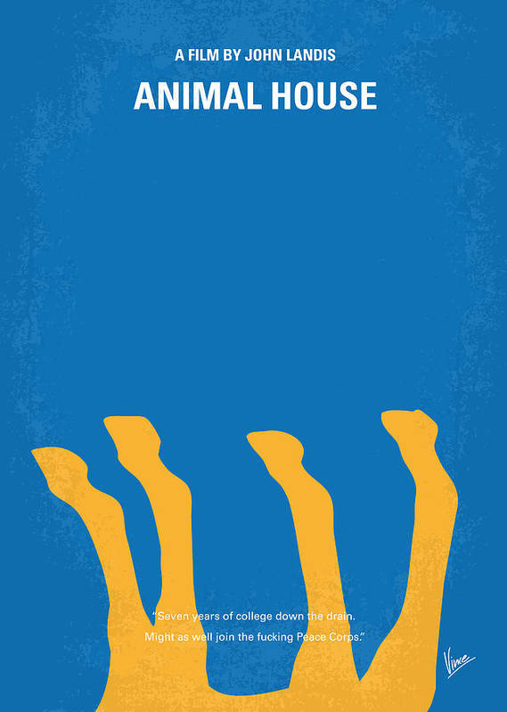 Animal Poster featuring the digital art No230 My Animal House Minimal Movie Poster by Chungkong Art