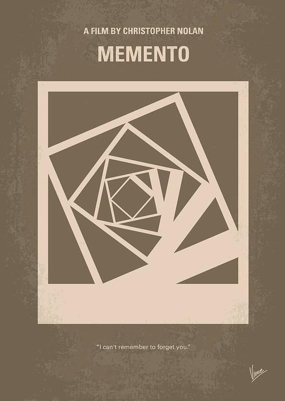 no frame Memento Alternative Minimalist Movie Poster /& Print