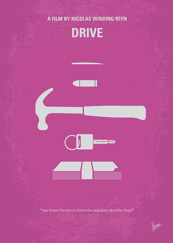 No258 My Drive Minimal Movie Poster Poster by Chungkong Art