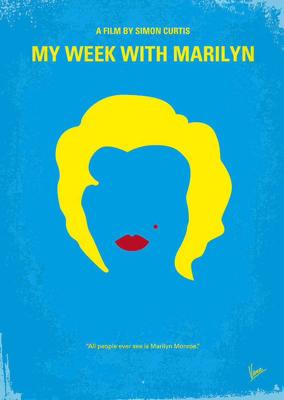 My Poster featuring the digital art No284 My Week With Marilyn Minimal Movie Poster by Chungkong Art