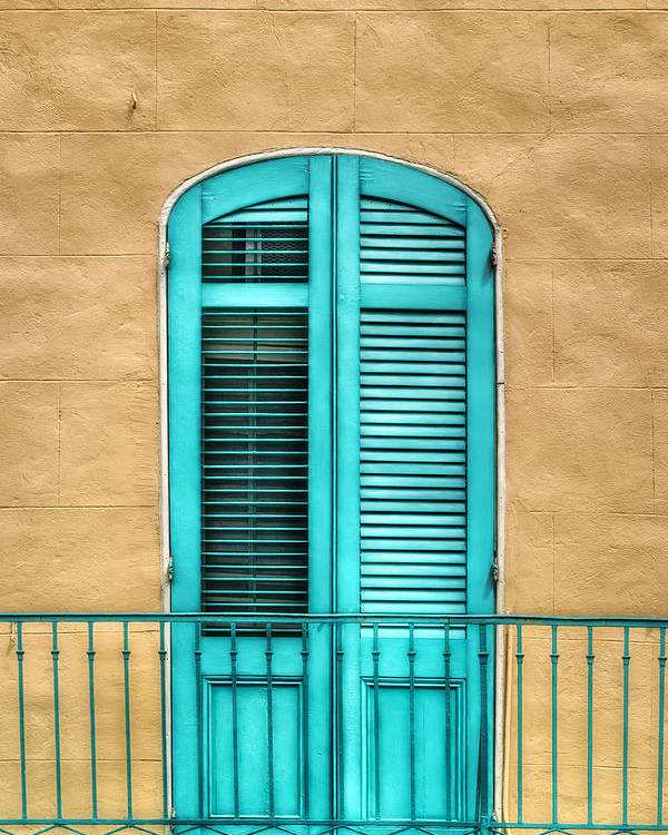 Door Poster featuring the photograph Nola Balcony by Brenda Bryant