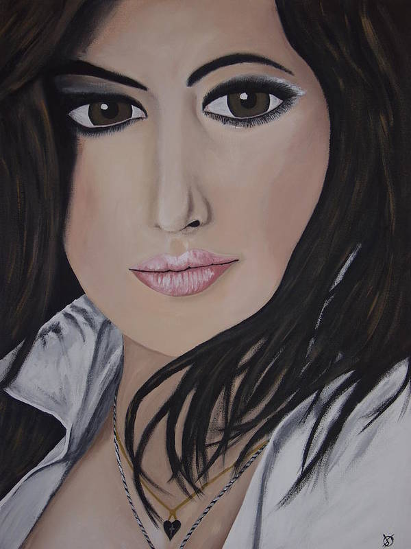 Actress Poster featuring the painting Noureen Dewulf by Dean Stephens