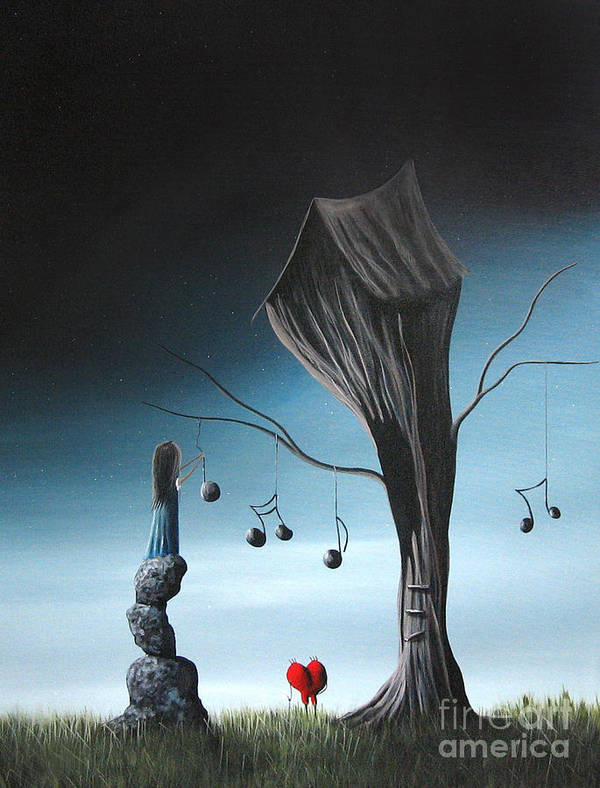 Surreal Poster featuring the painting Now And Forever In Love With You By Shawna Erback by Shawna Erback