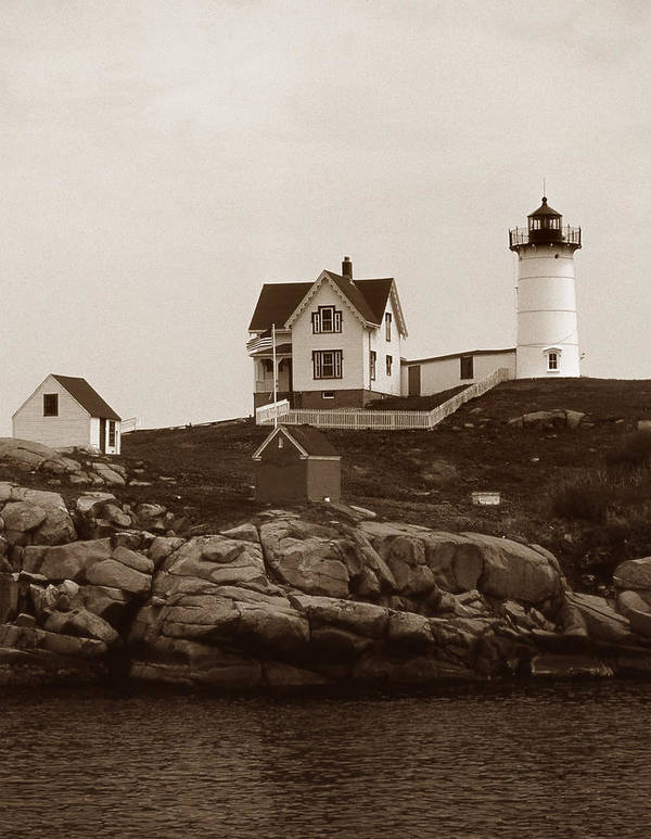 Lighthouses Poster featuring the photograph Nubble Light by Skip Willits