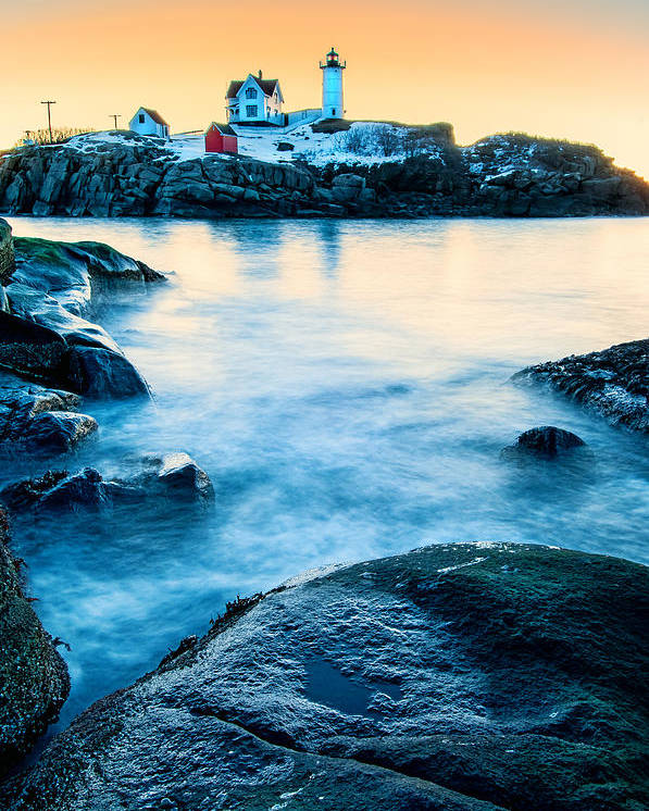 Cape Neddick Poster featuring the photograph Nubble Light by Thomas Schoeller