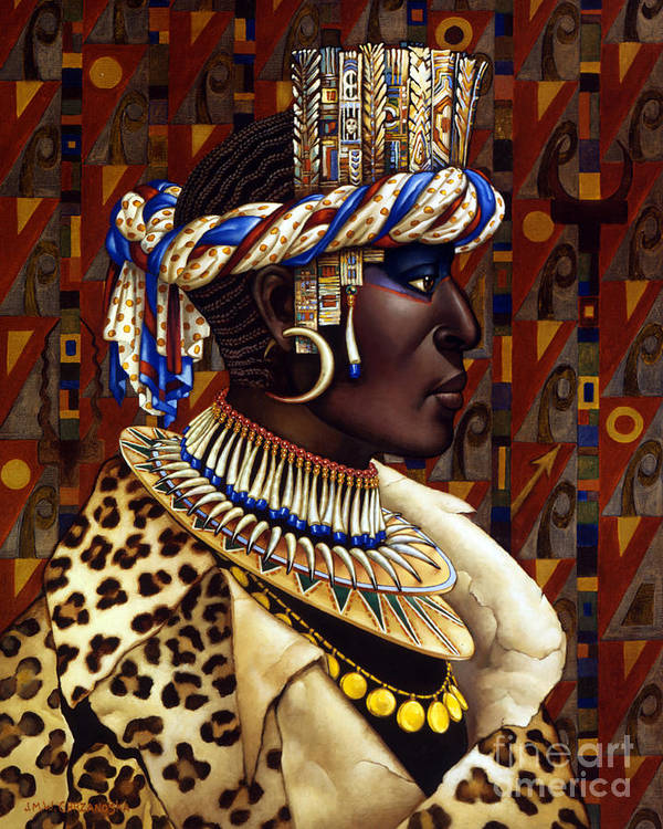 African Poster featuring the painting Nubian Prince by Jane Whiting Chrzanoska