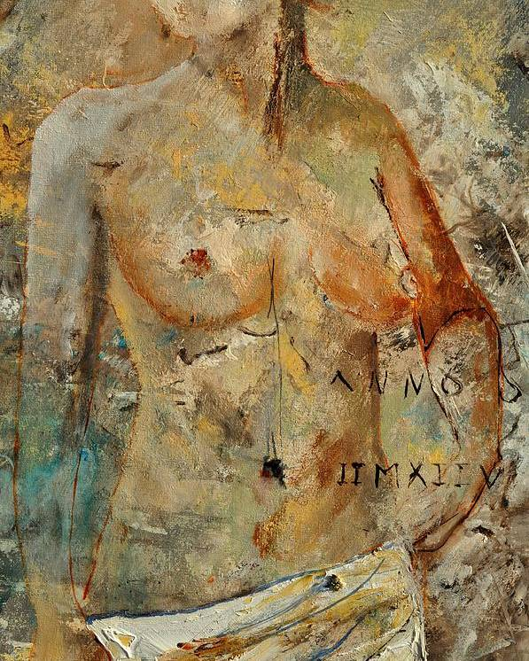 Nude Poster featuring the painting Nude 453130 by Pol Ledent