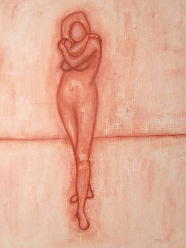 Nude Poster featuring the painting Nude 9 by Patrick J Murphy