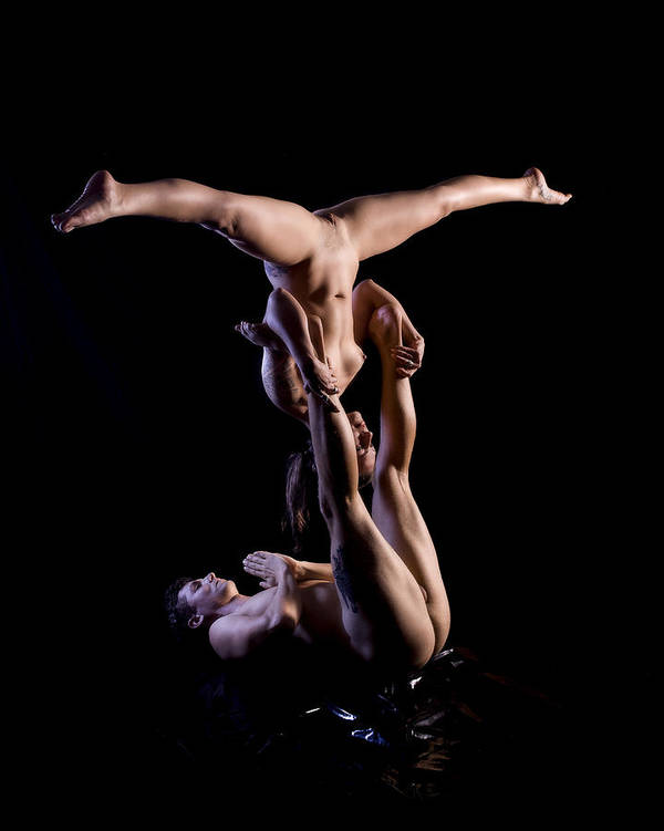 Handstand naked doing split girl believe, that