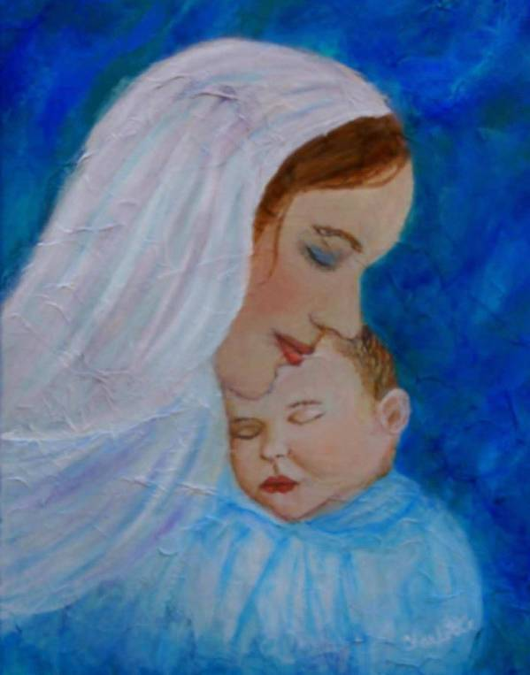 Mother And Child Poster featuring the painting Nurturing Love Of A Mother by The Art With A Heart By Charlotte Phillips