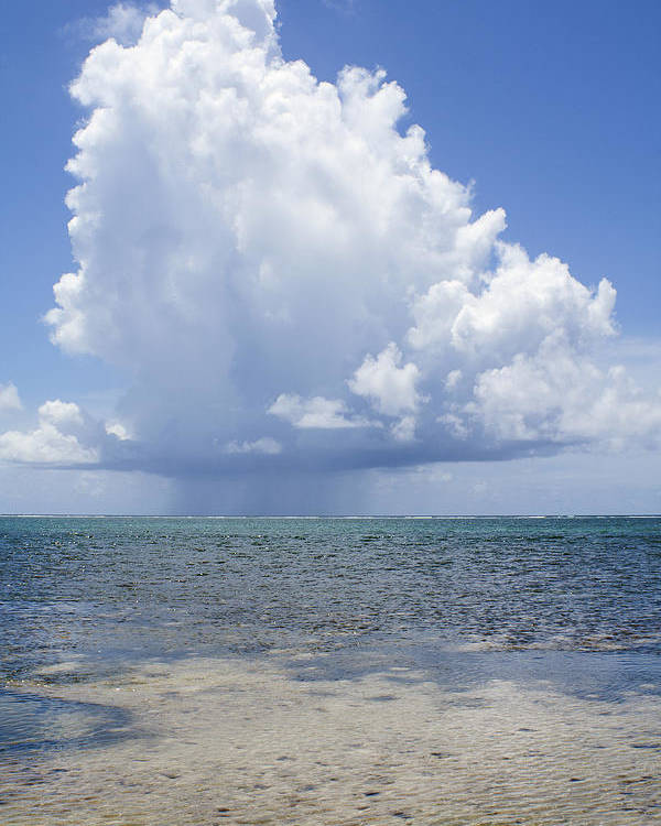 Storm Poster featuring the photograph Offshore Storm by Debby Richards