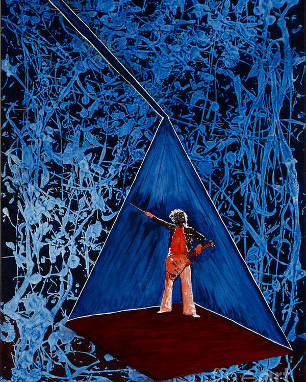 Led Zeppelin Poster featuring the painting Oh Jimmy by Stuart Engel