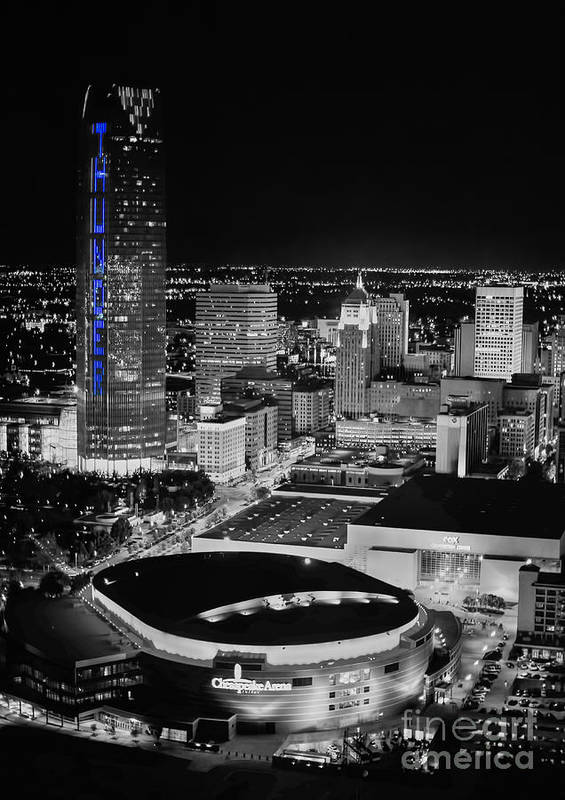 Oklahoma City Poster featuring the photograph Oks0055 by Cooper Ross