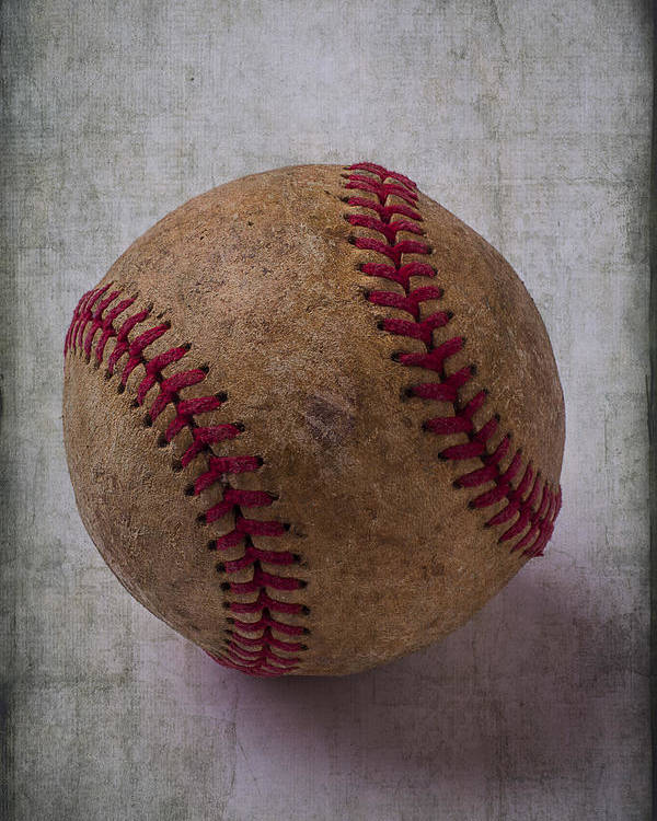 Old Poster featuring the photograph Old Baseball by Garry Gay
