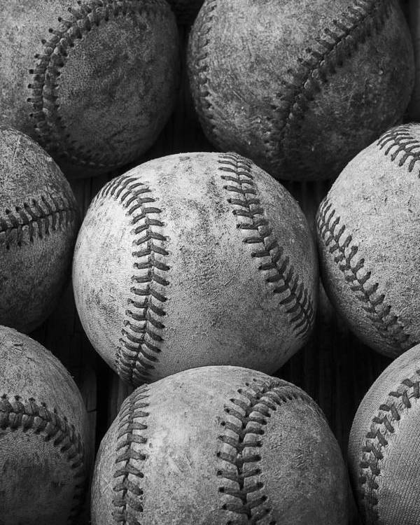 Baseball Memories Poster featuring the photograph Old Baseballs by Garry Gay