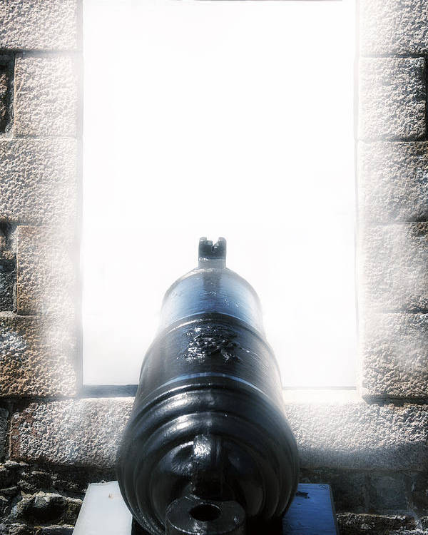 Iron Poster featuring the photograph Old Cannon by Joana Kruse