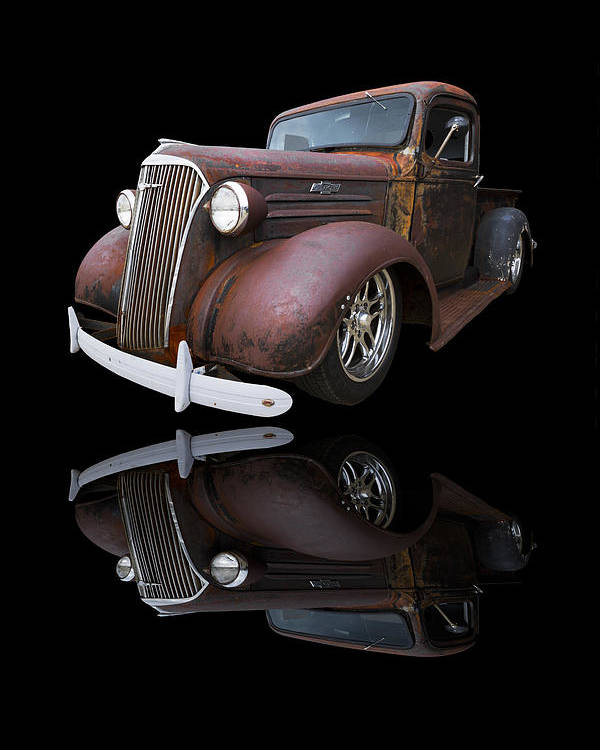'37 Poster featuring the photograph Old Chevy by Debra and Dave Vanderlaan