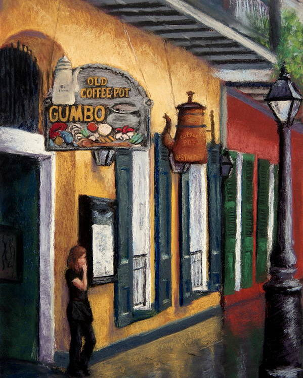 New Orleans Poster featuring the painting Old Coffee Pot Gumbo by Lisa Pope