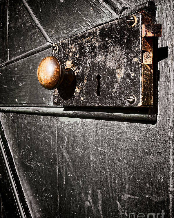 Door Lock Poster featuring the photograph Old Door Lock by Olivier Le Queinec