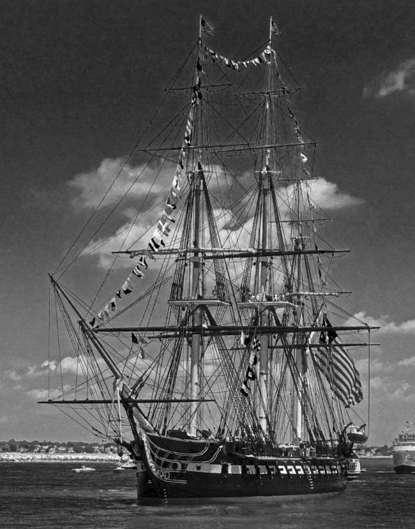 Uss Constitution Poster featuring the photograph Old Ironsides 1013 by Jeff Stallard