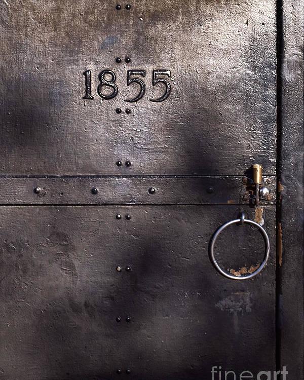 Old Metal Door Poster featuring the photograph Old Lighthouse Door by Eyzen M Kim