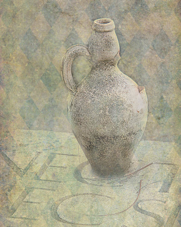 Old Poster featuring the photograph Old Pitcher Abstract by Garry Gay
