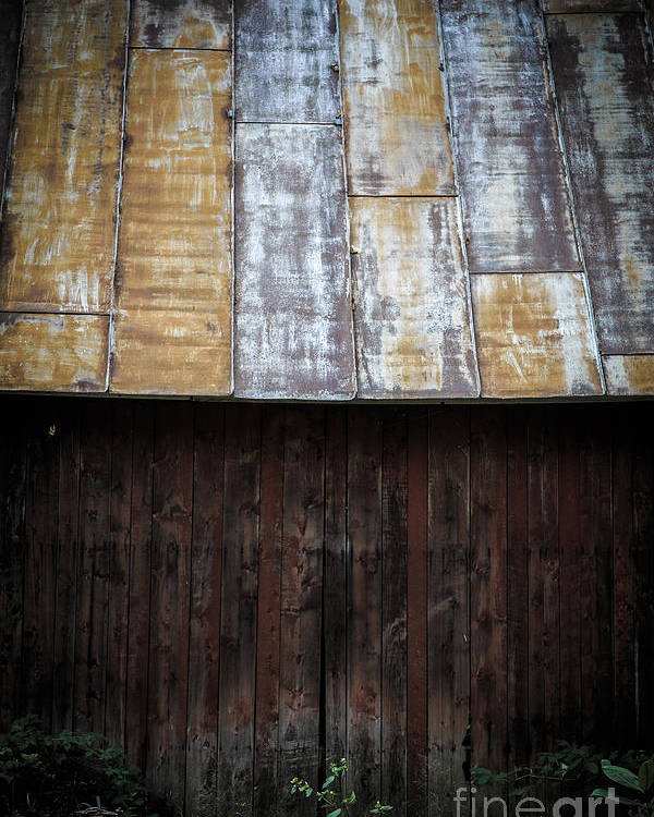 Vermont Poster featuring the photograph Old Rusty Tin Roof Barn by Edward Fielding