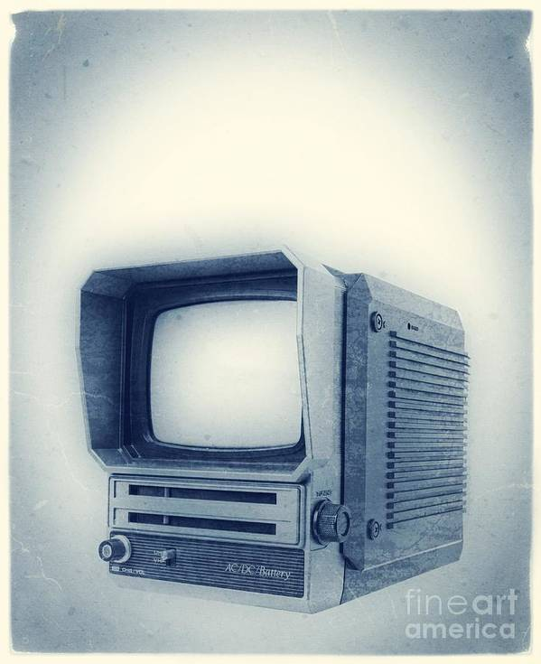 Television Poster featuring the photograph Old School Television by Edward Fielding